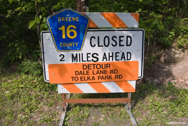 Platte Clove Road Construction Sign