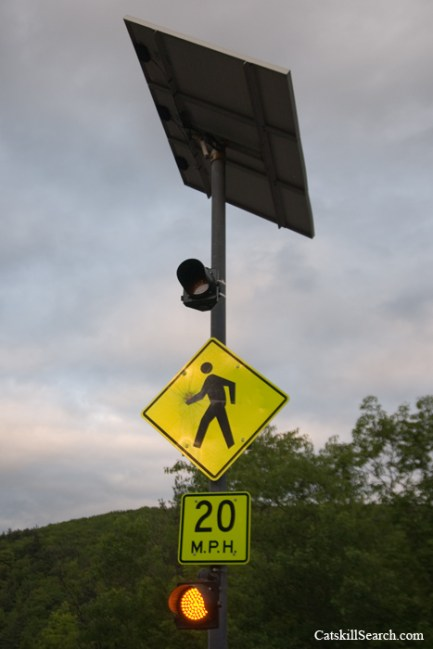 Kaaterskill Falls Pedestrian Warning Sign